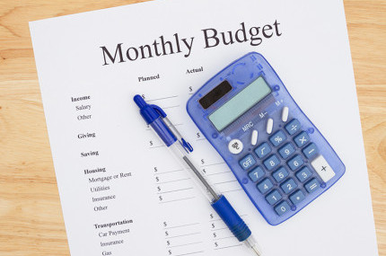 A monthly budget