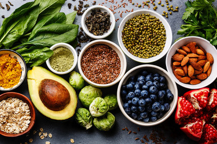 Collection of healty foods